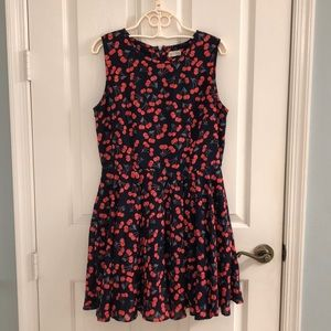 Maison Jules Cherry Print Dress